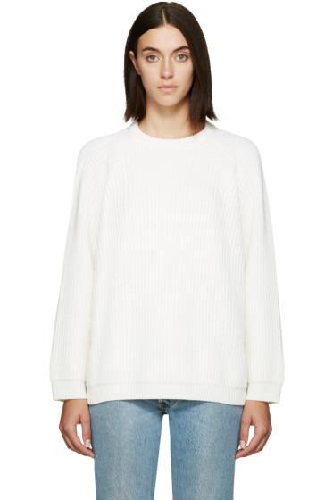 6397 - Off-White Merino Raglan Sweater