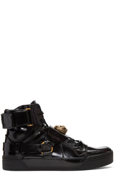 Gucci - Black Tiger High-Top Sneakers
