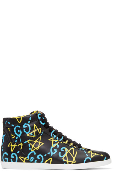 Gucci - Black GucciGhost High-Top Sneakers