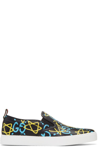 Gucci - Black GucciGhost Slip-On Sneakers