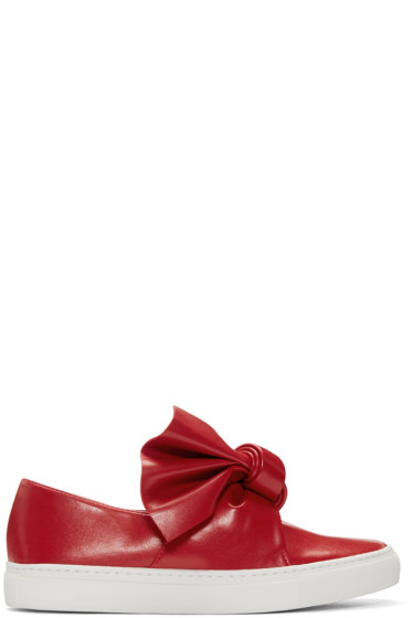 Cédric Charlier - Red Bow Slip-On Sneakers