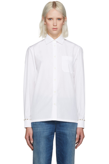 Valentino - White Rockstud Untitled Shirt