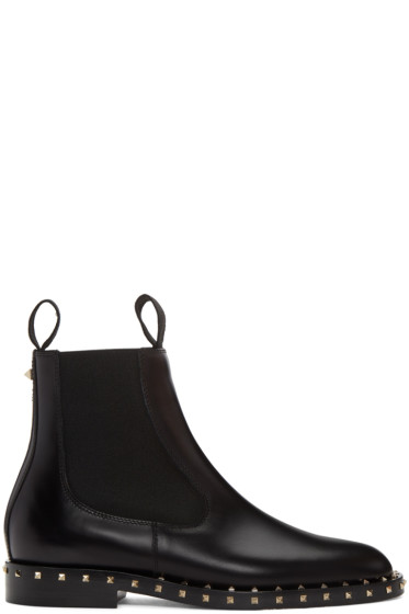 Valentino - Black Soul Stud Chelsea Boots