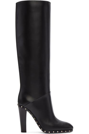 Valentino - Black Soul Rockstud Boots