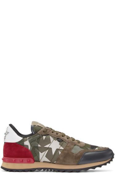 Valentino - Green Stars Camo Sneakers