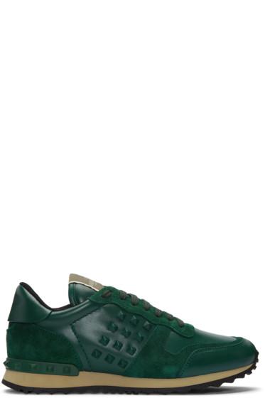 Valentino - Green Rockrunner Sneakers
