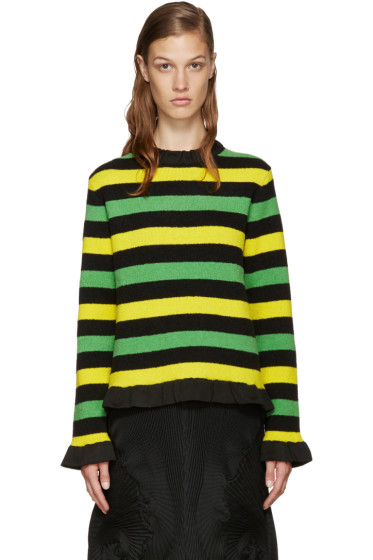 J.W. Anderson - Tricolor Striped Bouclé Sweater