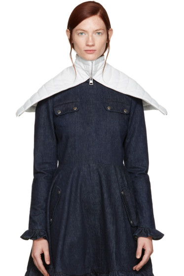 J.W. Anderson - Off-White Leather Capelet