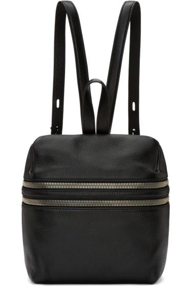 Kara - Black Small Double Zip Backpack