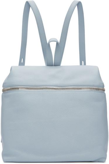 Kara - Blue Leather Backpack