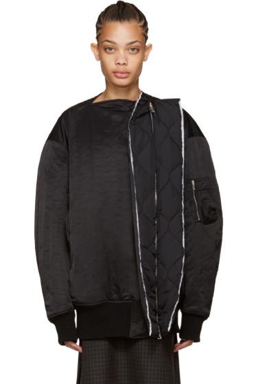 Yang Li - Black Show Oyster Bomber Jacket