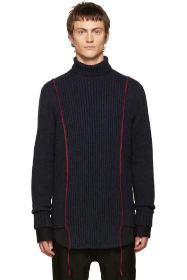 Yang Li - Navy Wool Turtleneck