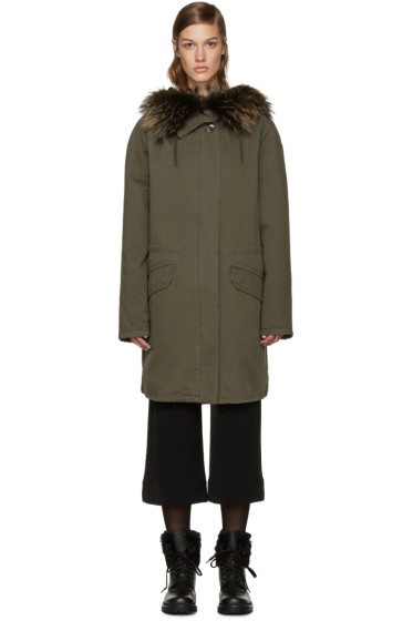 Army by Yves Salomon - Green Treillis Coat