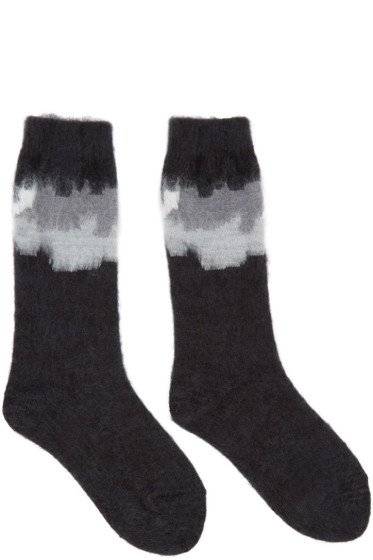 Facetasm - Black Intarsia Socks