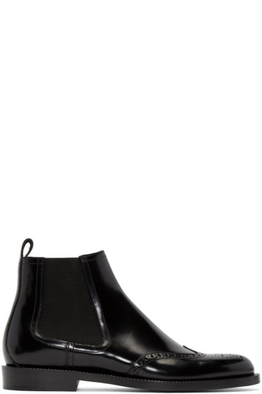 Jimmy Choo - Black Leather Angus Boots