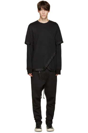 D.Gnak by Kang.D - Black Fishtail Pullover