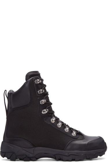 Marcelo Burlon County of Milan - Black Hiking Combat Boots