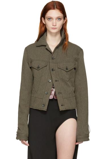 Haider Ackermann - Khaki Wool & Linen Jacket