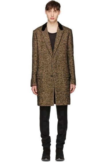 Haider Ackermann - Multicolor Velvet Collar Coat