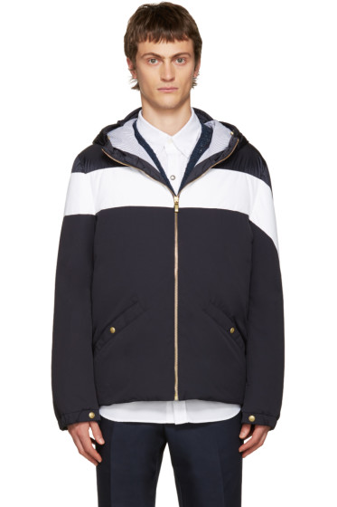 Moncler Gamme Bleu - Blue & White Down Jacket