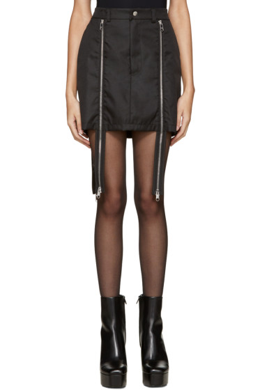 Hood by Air - Black Double-Zip Sup Luc Skirt