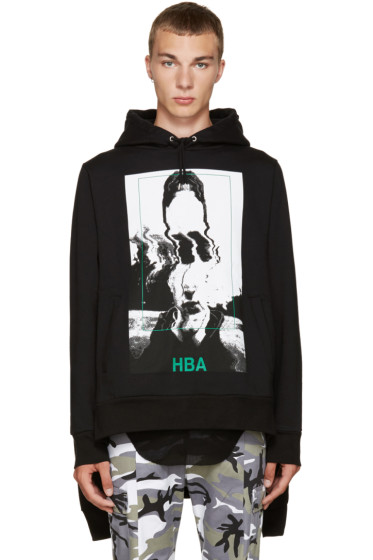 Hood by Air - Black Montgomery Double Hoodie
