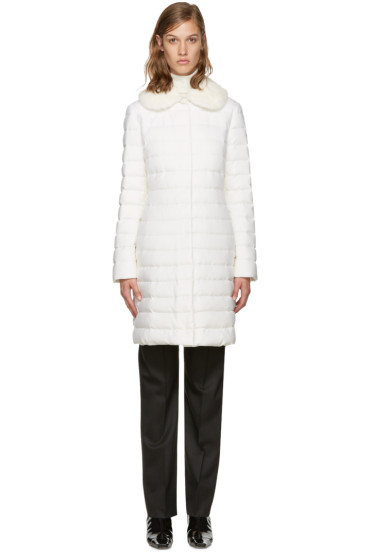 Moncler Gamme Rouge - White Down Anis Coat