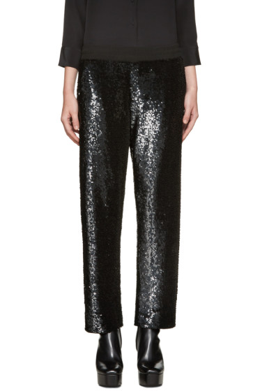 Ashish - SSENSE Exclusive Black Sequin Lounge Pants