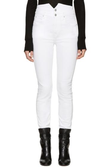 Isabel Marant Etoile - White High-Rise Earley Jeans