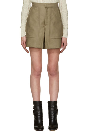 Isabel Marant - Taupe Satia Shorts