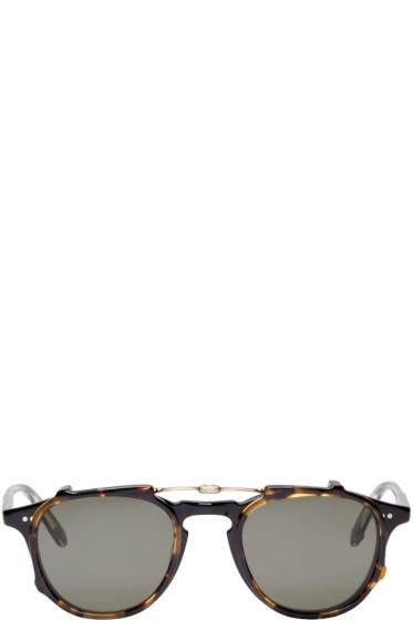 Garrett Leight - Black & Tortoise Hampton Clip-On Glasses