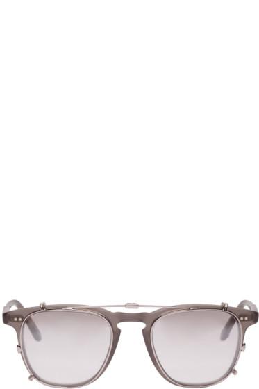 Garrett Leight - Grey Clip-On Brooks Glasses
