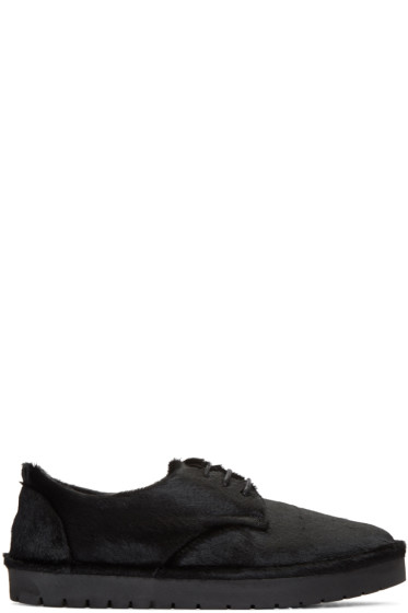 Marsèll Gomma - Black Calf-Hair Sancrispa Alta Derbys