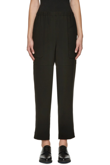 Jil Sander Navy - Black Waistband Trousers