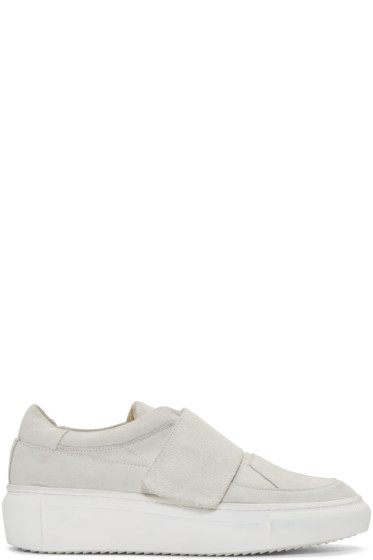 D by D - Grey Suede Velcro sneakers