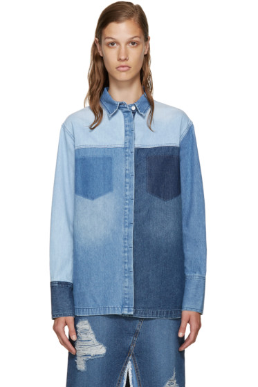 SJYP - Blue Multidenim Shirt
