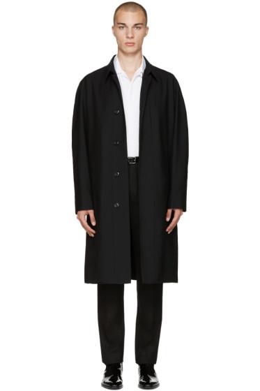 Lemaire - Black Wool Overcoat