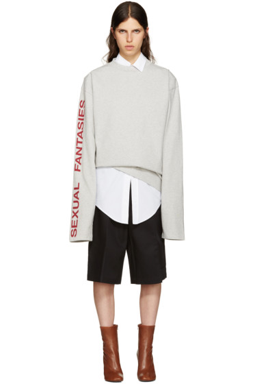 Vetements - Grey 'Sexual Fantasies' T-Shirt