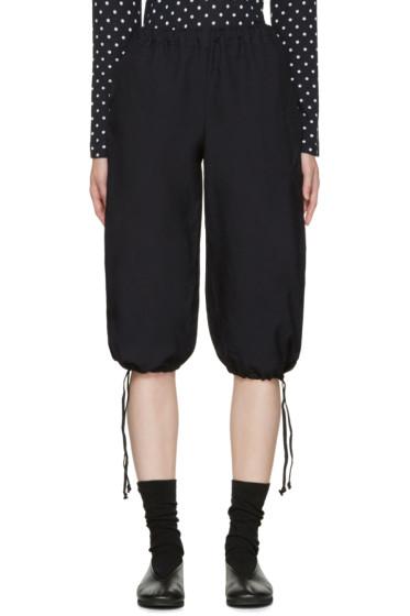 Comme des Garçons Girl - Navy Twill Drawstring Trousers