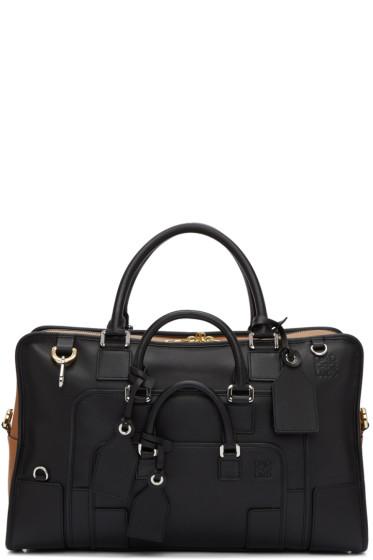 Loewe - Black & Tan Amazona Multiplication 44 Bag