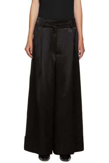 Loewe - Black Wide-Leg Satin Trousers