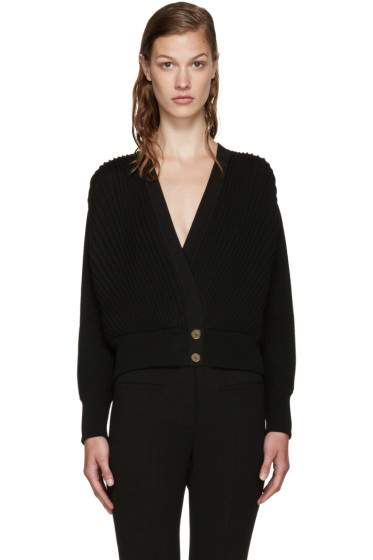 Loewe - Black Pleated Cardigan