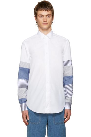 Loewe - White Patchwork Sleeve Shirt