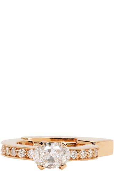 Repossi - Rose Gold 1 Diamond Serti Sur Vide Ear Cuff