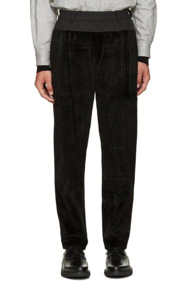 Toga Virilis - Black Faux-Fur Lounge Pants