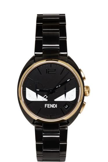 Fendi - Black & Gold Momento Bugs Watch