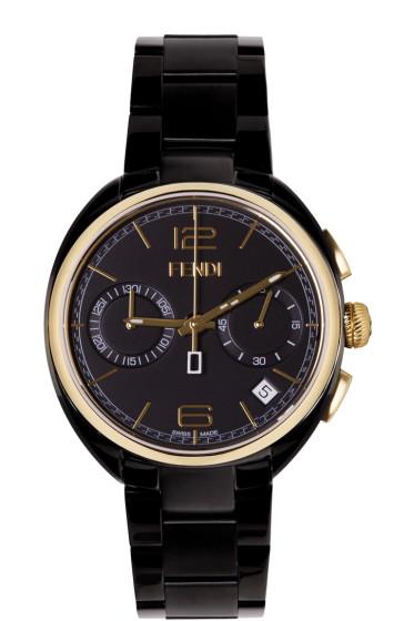 Fendi - Black & Gold Momento Watch