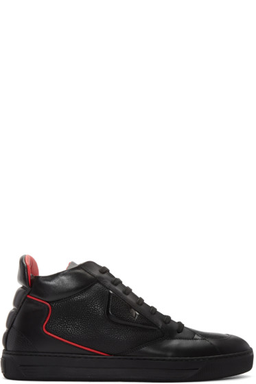 Fendi - Black Bug Eyes High-Top Sneakers