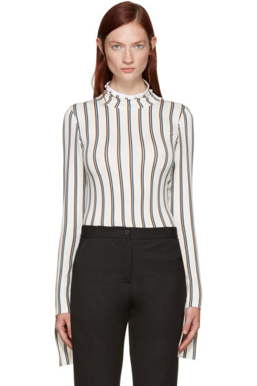 Aalto - White Striped Turtleneck