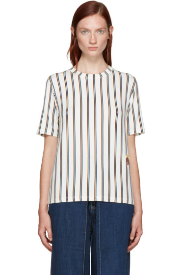 Aalto - White Striped T-Shirt
